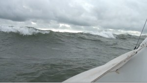 Breaking waves enroute to Piel Island.
