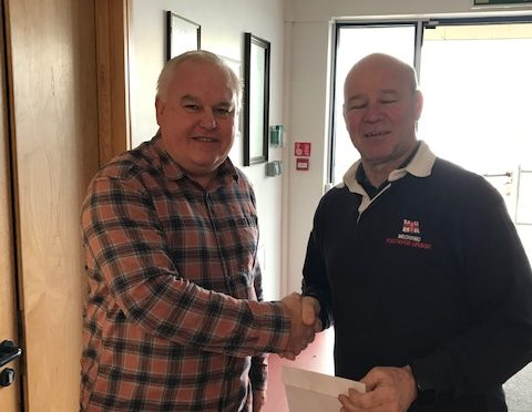 RNLI donation and Crane-in April 2019